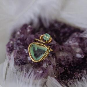 Flourite Brass ring