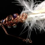 Crystal Smudging Feather Wand