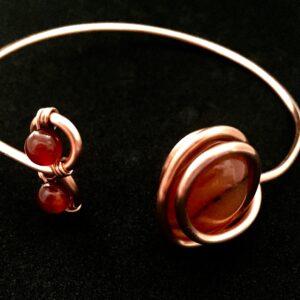Infinity trinity bracelet- Carnelian