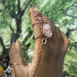 Rose Quartz Goddess Ring