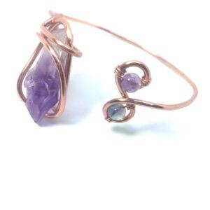 Infinity Trinity- Amethyst Bracelet