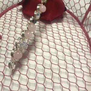 Royalty Wand- Rose Quartz - Silver