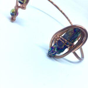 Infinity trinity bracelet- Rainbow Hematite