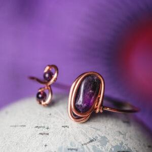 Infinity Trinity- Amethyst Bracelet • Polished