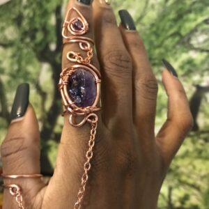 Amethyst Goddess Ring