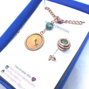 Sagittarius •Child• Birthstone Ring & Necklace set-Turquoise