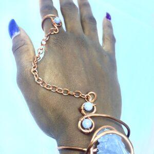 Infinity Trinity Goddess Bracelet-Celestite