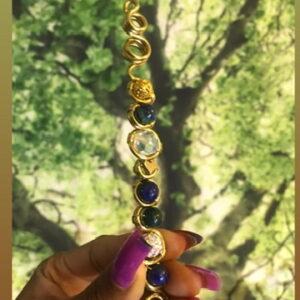 Brass Royalty Wand- Chrysocolla lapis
