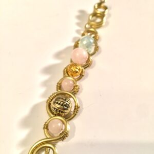 Royalty Wand- Rose Quartz + Brass