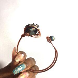 Titanium Aura Quartz- Bracelet