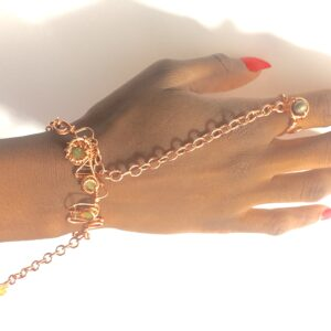 Peridot•Pyrite•Citrine Goddess Bracelet
