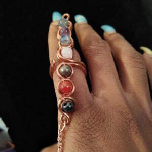 Copper Chakra Wand Ring