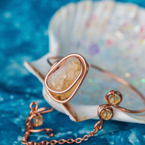 Infinity Trinity Citrine goddess bracelet